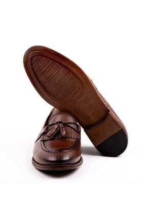 MPP Hakiki Deri Loafer Erkek Ayakkabı Trs502 Kahverengi 1