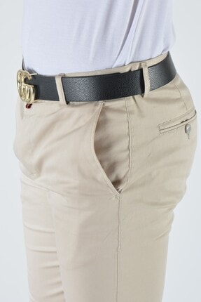 Terapi Men Erkek Slim Fit Keten Pantolon 20y-2200316 Krem 2