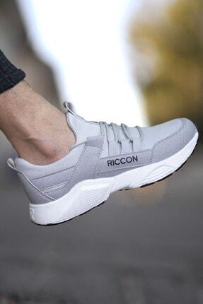 Riccon Erkek Gri Bağçıklı Sneaker 0012072 1