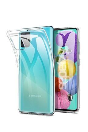 sepetzy Samsung Galaxy A51 Şeffaf Kılıf Clear Silikon Kapak 0