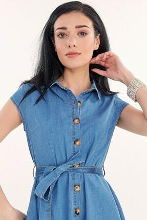 Fullamoda Kuşaklı Kot Elbise 1