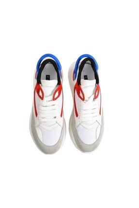 Flower Beyaz Yüksek Tabanlı Spor Ayakkabı 3