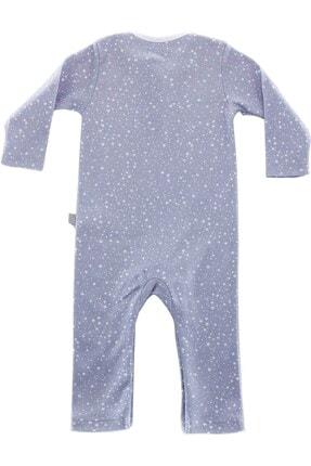 Boumini Unisex Bebek Mavi Uzun Kollu Çıtçıtlı Tulum Yıldız Tozu 2