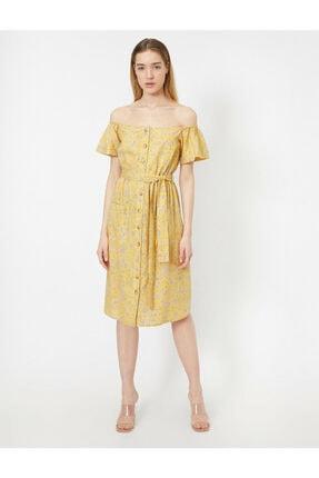 Koton Dügme Detayli Elbise 2