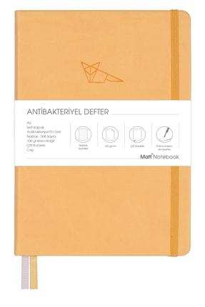 Matt Notebook A5 Antibakteriyel Defter Noktalı Sarı 0