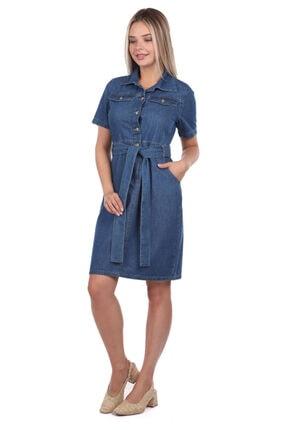 BNY JEANS Banny Jeans Kemer Detaylı Jean Elbise 0