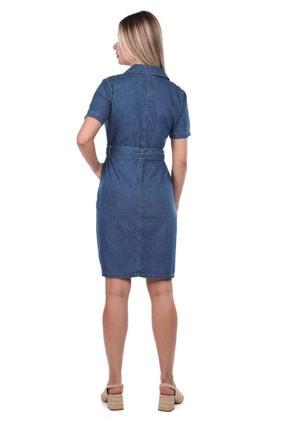 BNY JEANS Banny Jeans Kemer Detaylı Jean Elbise 2