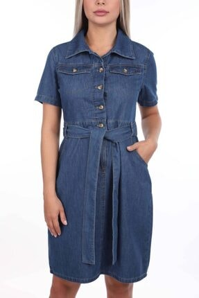 BNY JEANS Banny Jeans Kemer Detaylı Jean Elbise 3