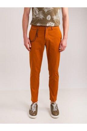Dufy Bakır Aksesuar Detaylı Armür Pamuklu Likra Erkek Pantolon - Modern Fit 0
