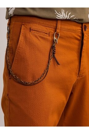 Dufy Bakır Aksesuar Detaylı Armür Pamuklu Likra Erkek Pantolon - Modern Fit 1