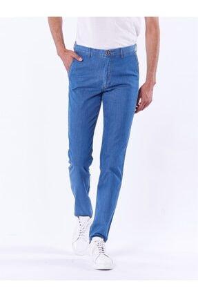Dufy Mavi Büyük Beden Düz Erkek Pantolon - Battal 2