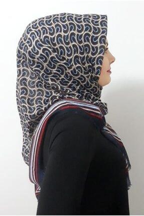 Kadın Desenli Pamuk Eşarp Poloist Desenli Pamuk Eşarp 3