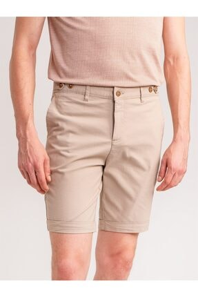 Dufy Bej Armür Pamuk Likra Karışım Erkek Short - Modern Fit 0