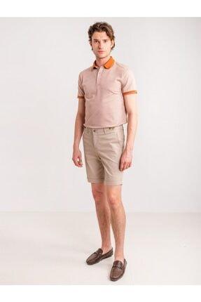 Dufy Bej Armür Pamuk Likra Karışım Erkek Short - Modern Fit 4