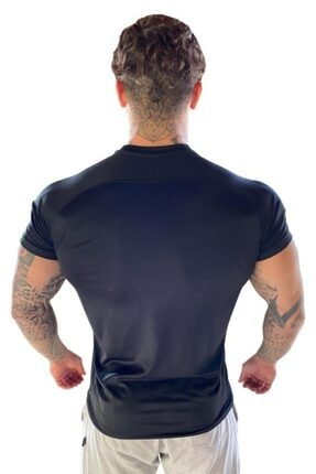 Muscle Station Musclestation Siyah Fitness Tshirt 2