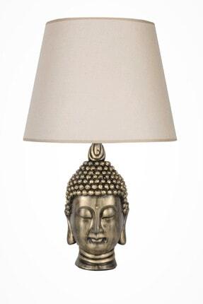 Modern Dizayn Büyük Buda Abajur Gold Bej qdecbbudaabj022