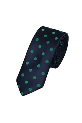ROMASTER Lacivert Renk Noktalı Erkek Kravat 0