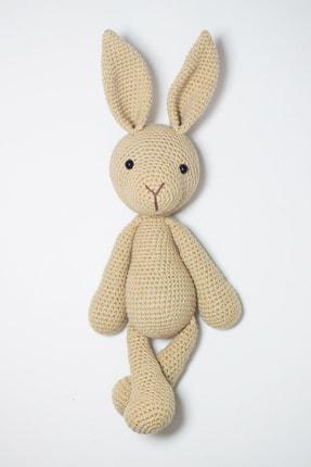 Enjoymydesign Organik Tavşan Örgü Oyuncak Uyku Arkadaşı 35 Cm Açık Kahve 0