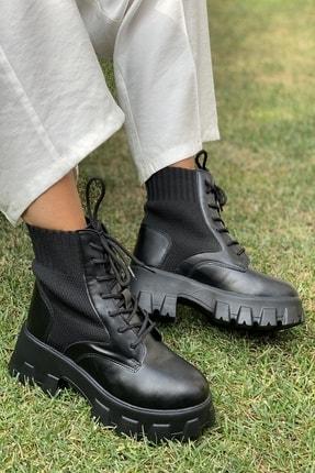 İnan Ayakkabı Bayan Kalın Taban Kenardan Lastikli Bot 0