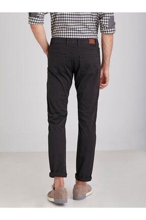 Dufy Siyah Pamuklu Likra Erkek Pantolon - Modern Fit 3