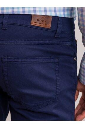 Dufy Lacivert Pamuk Likra Karışımlı Erkek Pantolon - Modern Fit 3