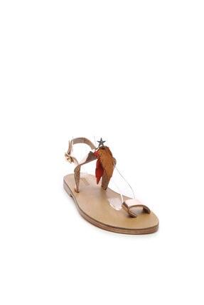 Kemal Tanca Kadın Deri Sandalet Sandalet 607 Kb35 Bn Sndlt 1