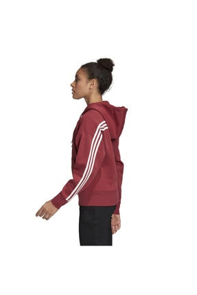 adidas W 3s Dk Hoodie Kadın Kırmızı Günlük Stil Ceket Gc6950 2