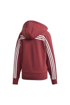 adidas W 3s Dk Hoodie Kadın Kırmızı Günlük Stil Ceket Gc6950 4