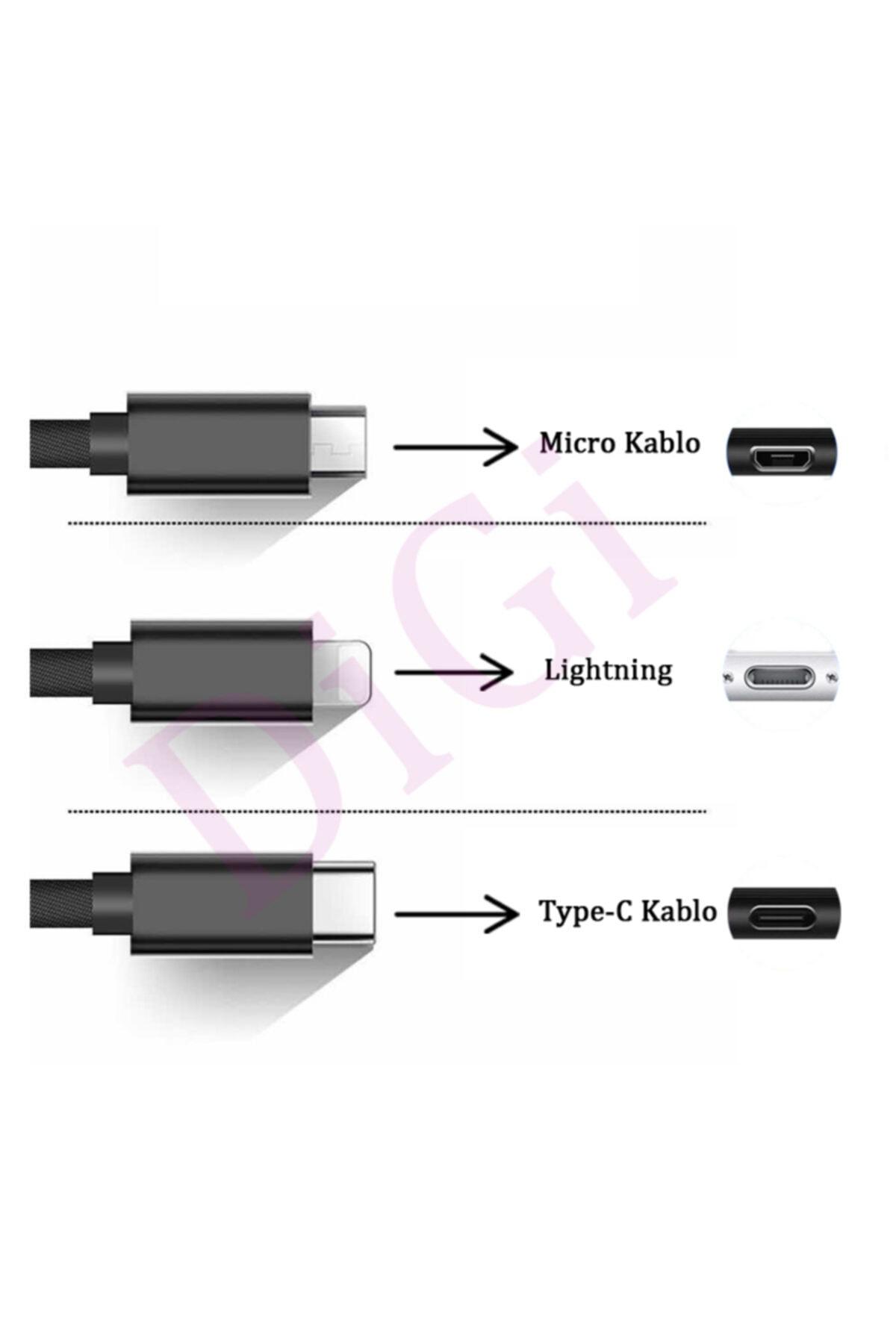 DIGI Type C Kablo Huawei Samsung Xiaomi Oppo Hızlı Şarj Kablosu Type-c Fast Kablo 2 Metre