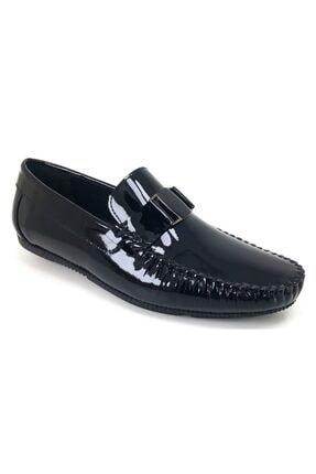 MARCOMEN 11260 Rugan Siyah Hakiki Deri Ayakkabı 0
