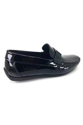 MARCOMEN 11260 Rugan Siyah Hakiki Deri Ayakkabı 3