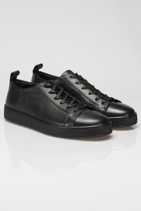 Alba Siyah Hakiki Deri Erkek Sneaker 2