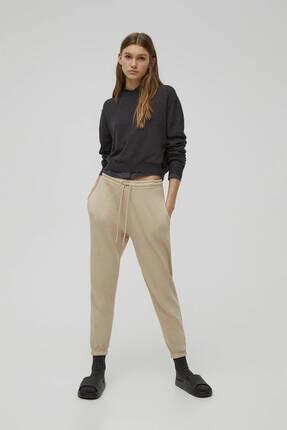 Pull & Bear Kadın Camel Pantolon 0