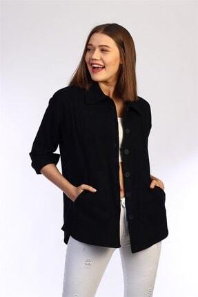 Be Happy Woman Yanları Cepli Düğmeli Oduncu Gömlek 1