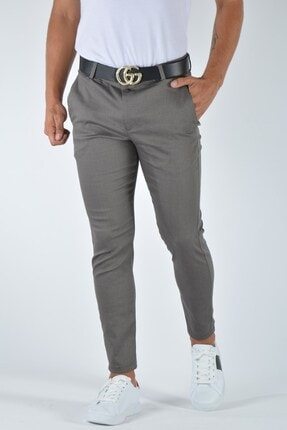 Terapi Men Erkek Slim Fit Keten Pantolon 20y-2200336 Vizon 0