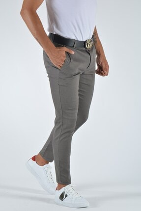 Terapi Men Erkek Slim Fit Keten Pantolon 20y-2200336 Vizon 2