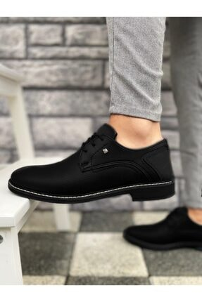 Marsetti Erkek Siyah Klasik Casual Ayakkabı 1