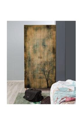 Vivense Stil Iki Kapılı Gardrop Ağaç Desenli 2