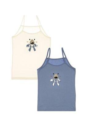Picture of 2'li Kutup Ayısı Baskılı Kız Çocuk Atlet - 4371fa-2lı