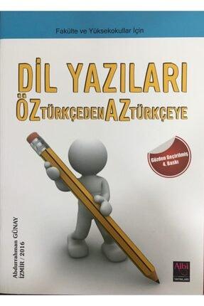 Albi Sorularla Türk Dili Bilgisi - Dil Yazıları- Okudukça - Abdurrahman Günay 1
