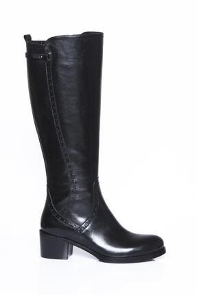 Deripabuc Hakiki Deri Siyah Kadın Deri Çizme Dp01-2064 1