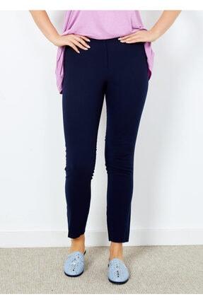 Adze Kadın Lacivert Klasik Kesim Boru Paça Pantalon Laci 40 3