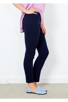 Adze Kadın Lacivert Klasik Kesim Boru Paça Pantalon Laci 40 4
