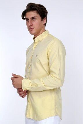 GULF BIRD Oxford Sarı Slım Fıt Erkek Gömlek 2
