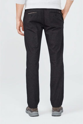Avva Erkek Antrasit Yandan Cepli Flanel Slim Fit Pantolon A02y3057 3