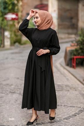 benguen 7069 Tesettür Elbise - Siyah 2