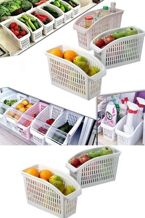 Meleni Home 6'lı Buzdolabı Içi Düzenleyici Sebze Meyve Düzenleyici Dolap Içi Organizer 0