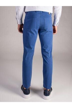 Dufy Mavi Düz Erkek Pantolon - Slım Fıt 2