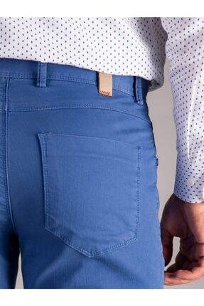 Dufy Mavi Düz Erkek Pantolon - Slım Fıt 3
