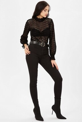 Arma Life Yüksek Bel Likralı Pantolon - Siyah 2